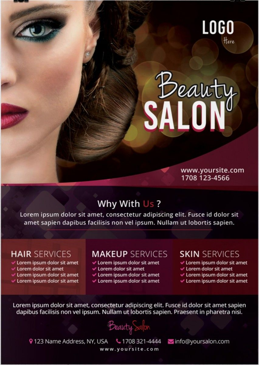 Beauty Salon Free Psd Flyer Template Hair And Beauty Salon