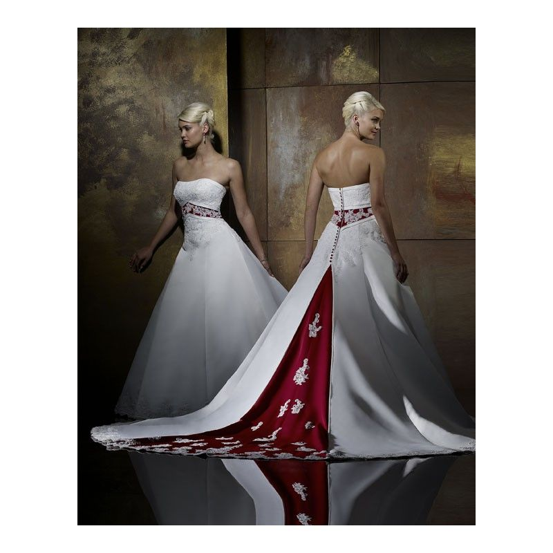 Colored Black, Red, Blue, Pink and White Wedding Dresses Gowns ...