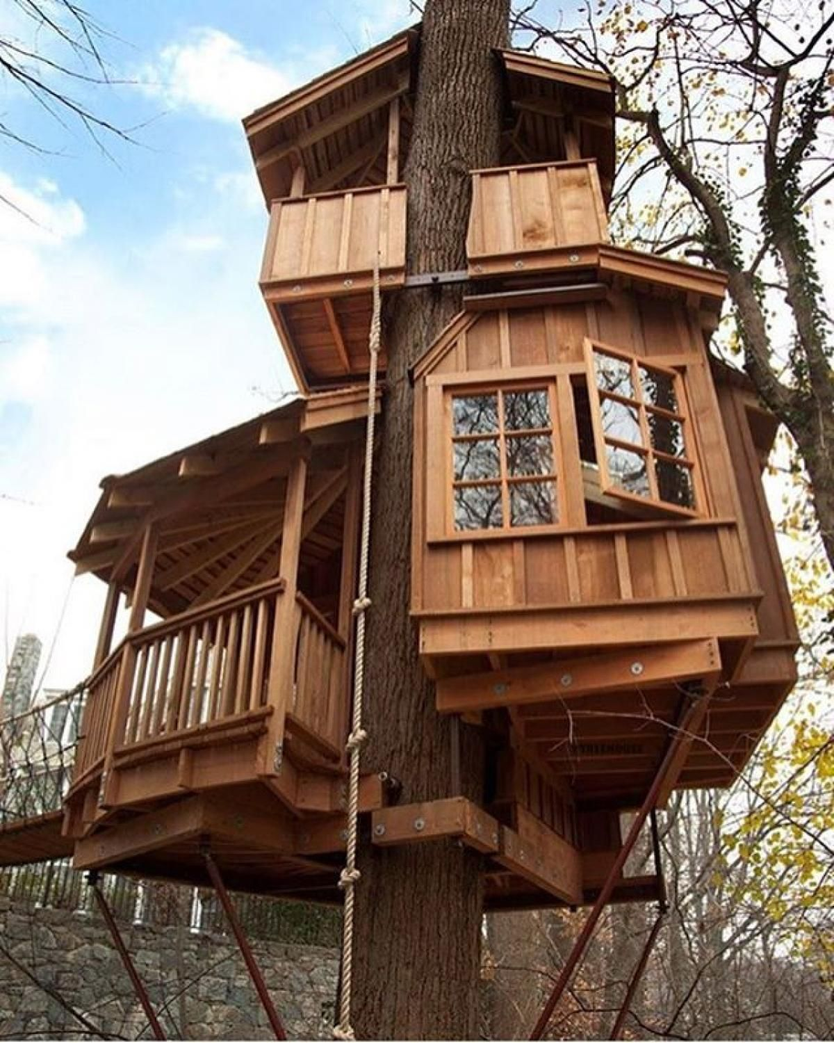 3 House With Creative Tree House Design