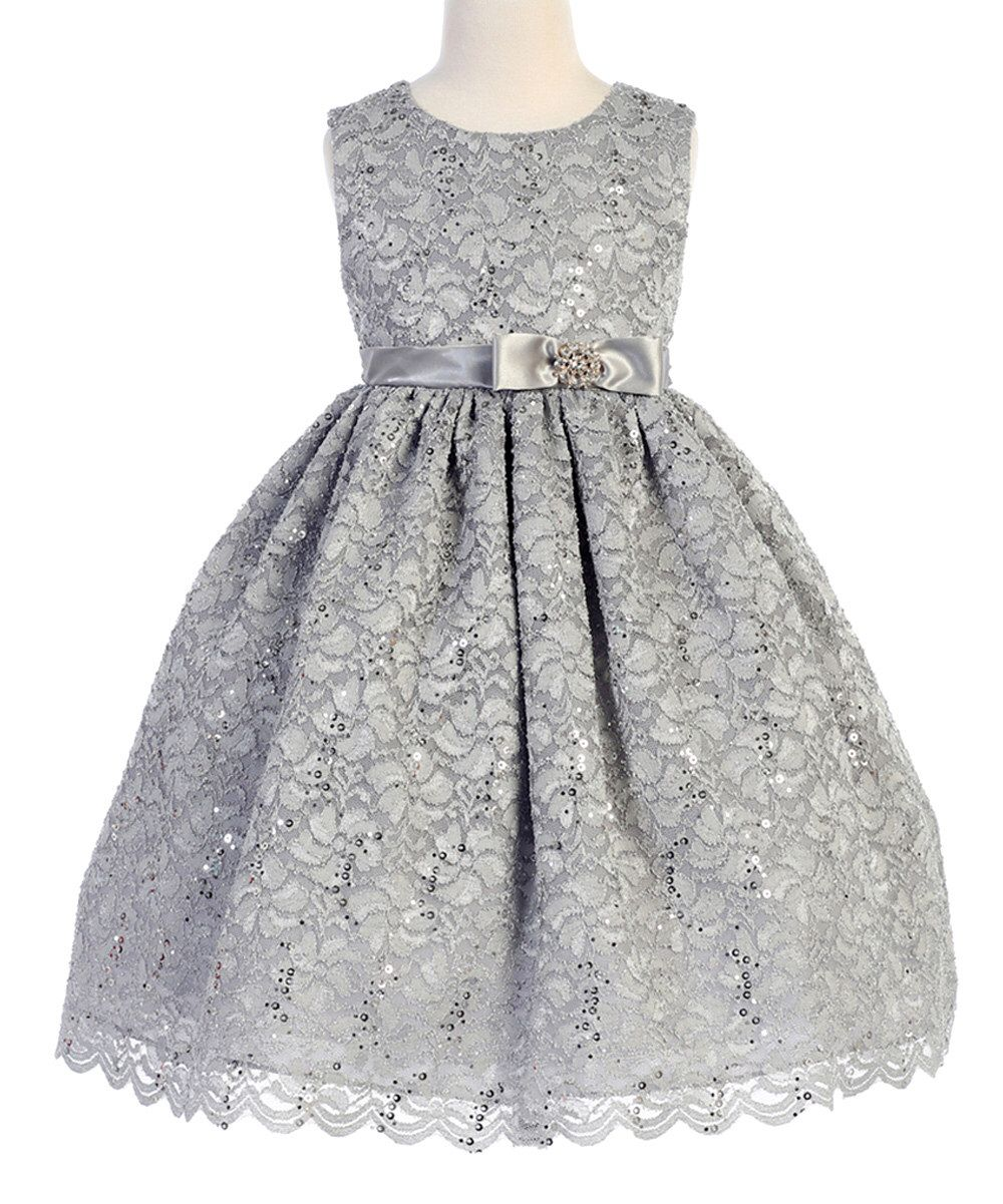 47f02ef7a234 Look at this Crayon Kids Silver Bow Sleeveless A-Line Dress - Toddler &  Girls on #zulily today!