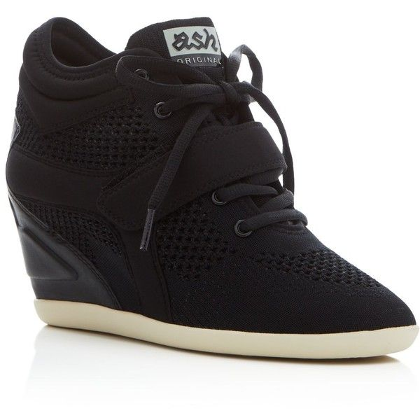 Ash Bebop Lace Up Wedge Sneakers