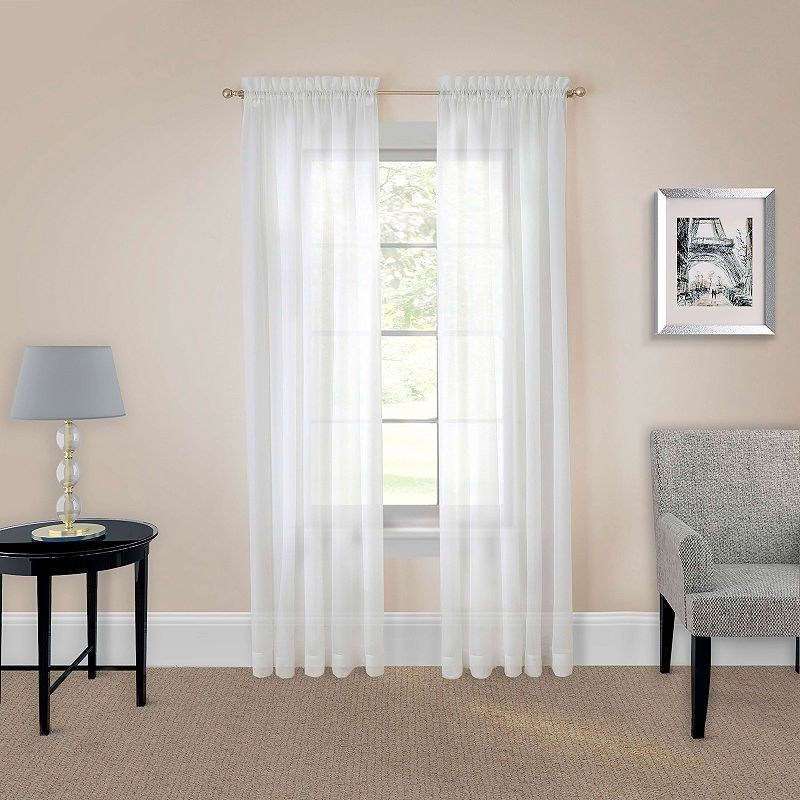 Pairs To Go Victoria Voile Multi Pack Sheer Rod Pocket Curtain