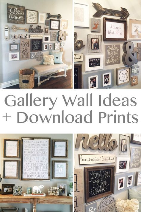 20 Amazing DIY Home Decor Ideas Gallery wall, Walls and Living rooms