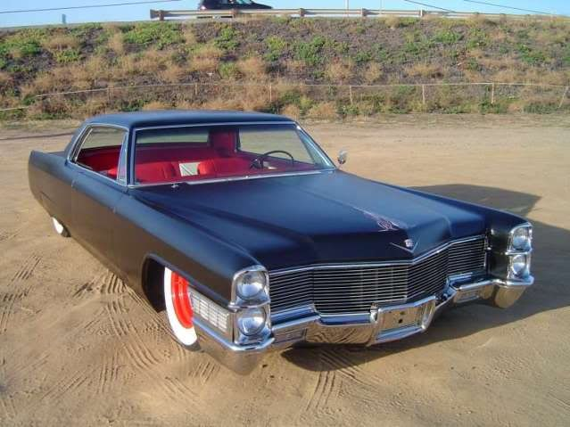 65 Cadillac coupe deville - US MUSCLE Lose the pinstriping and give me some longhorns on the hood.