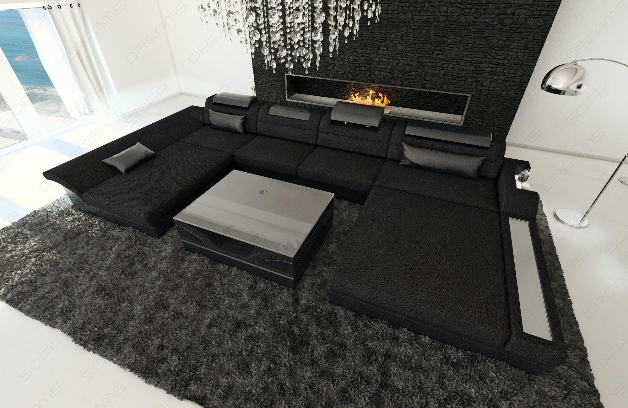 Fabric Sectional Sofa Chicago LED | Sectional sofa, Fabric ...