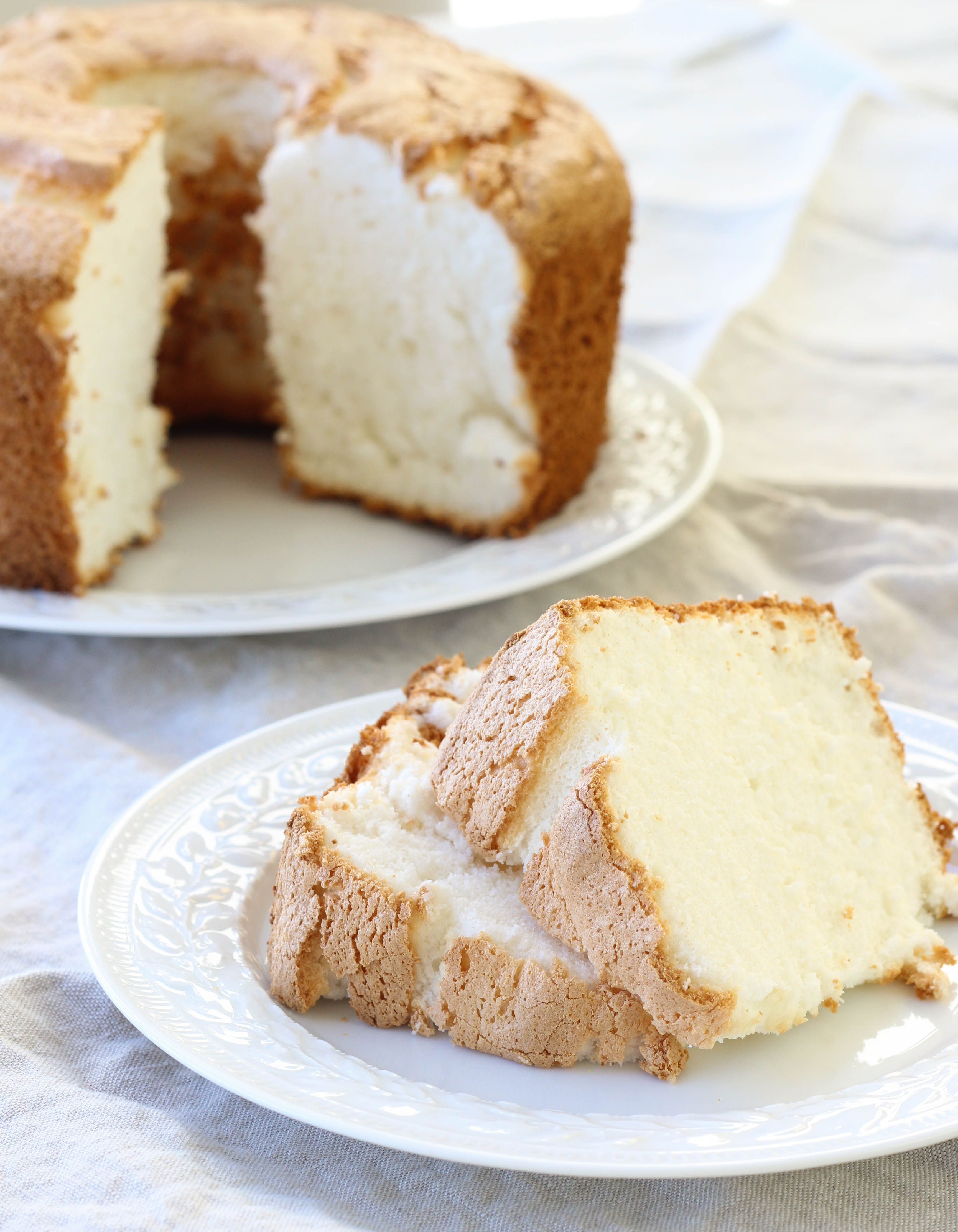 Angel food cake recipe angel food cakes blueberry sauce and food forumfinder Image collections