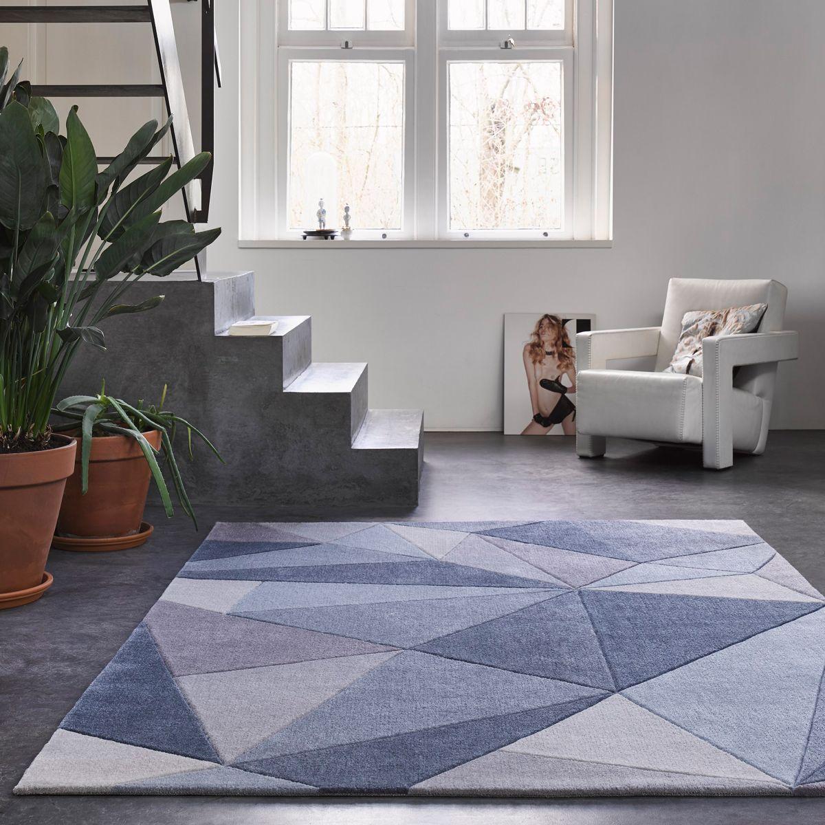 Teppich Blau Grau Kurzflor Next Time Wecon Home Teppich Blau Grau Blau Grau Teppich