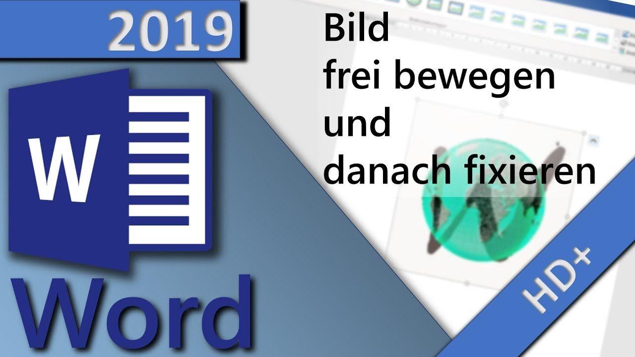 Word Bild Frei Bewegen Verschieben Und Danach Fixieren Verankern I Bilder Lebenslauf Microsoft Office