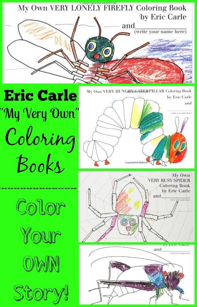 Eric Carle Coloring Books - Color your FAVORITE Children\'s Story ...