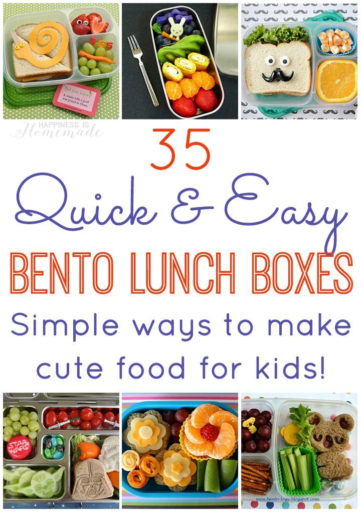 35 Quick and Easy Bento Lunch Ideas - Simple Ideas for Making Cute ...