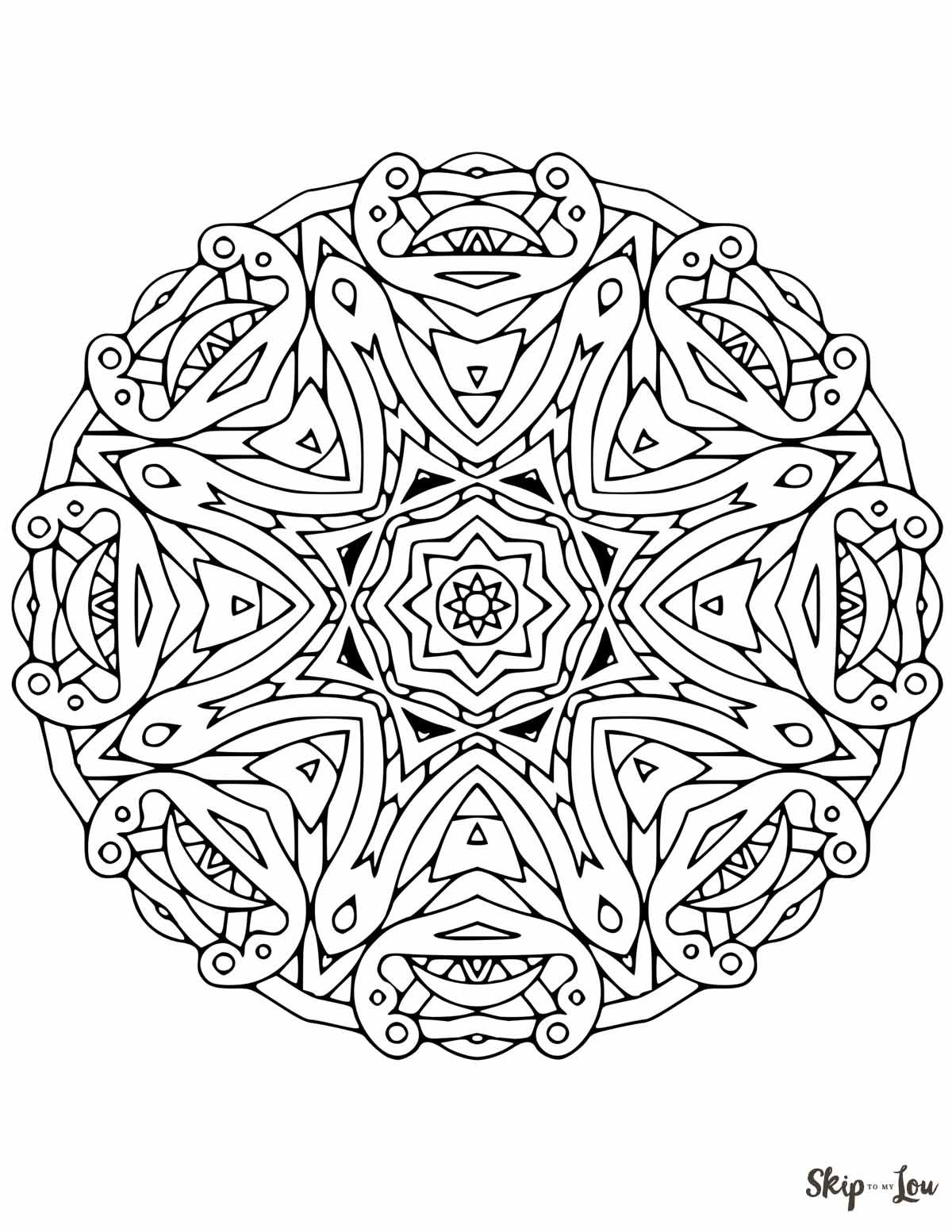 Mandala 2 | Skip to my Lou Free printables | Pinterest
