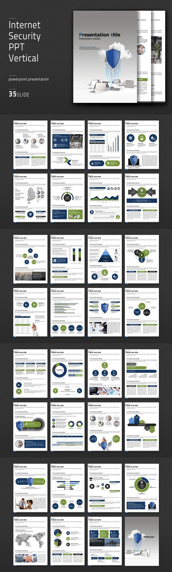 internet security ppt vertical. presentation templates. $41.00, Powerpoint templates