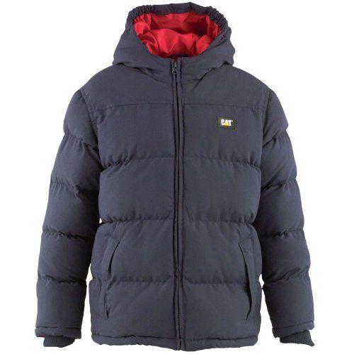 Caterpillar Boys Puffa Jacket Kids Coat Junior Padded Winter