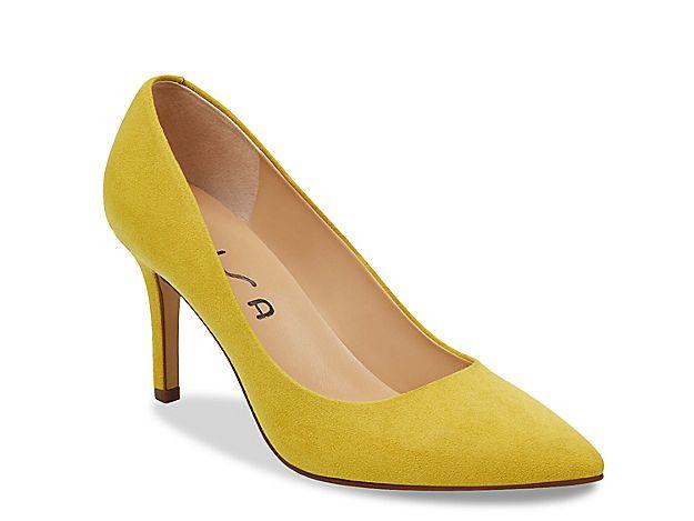 119223a6273 Women Yema Pump -Mustard Yellow