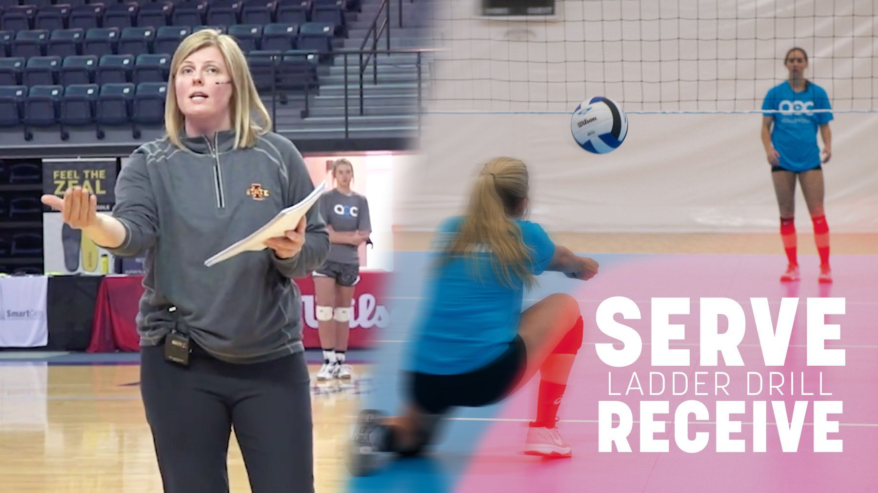 Serve Receive Ladder Drill The Art Of Coaching Volleyball Coaching Volleyball Volleyball Drills Volleyball Skills