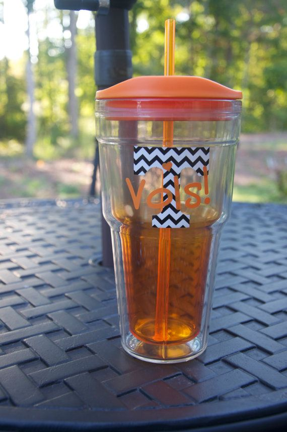 Personalized Chevron University Of Tennessee Cup