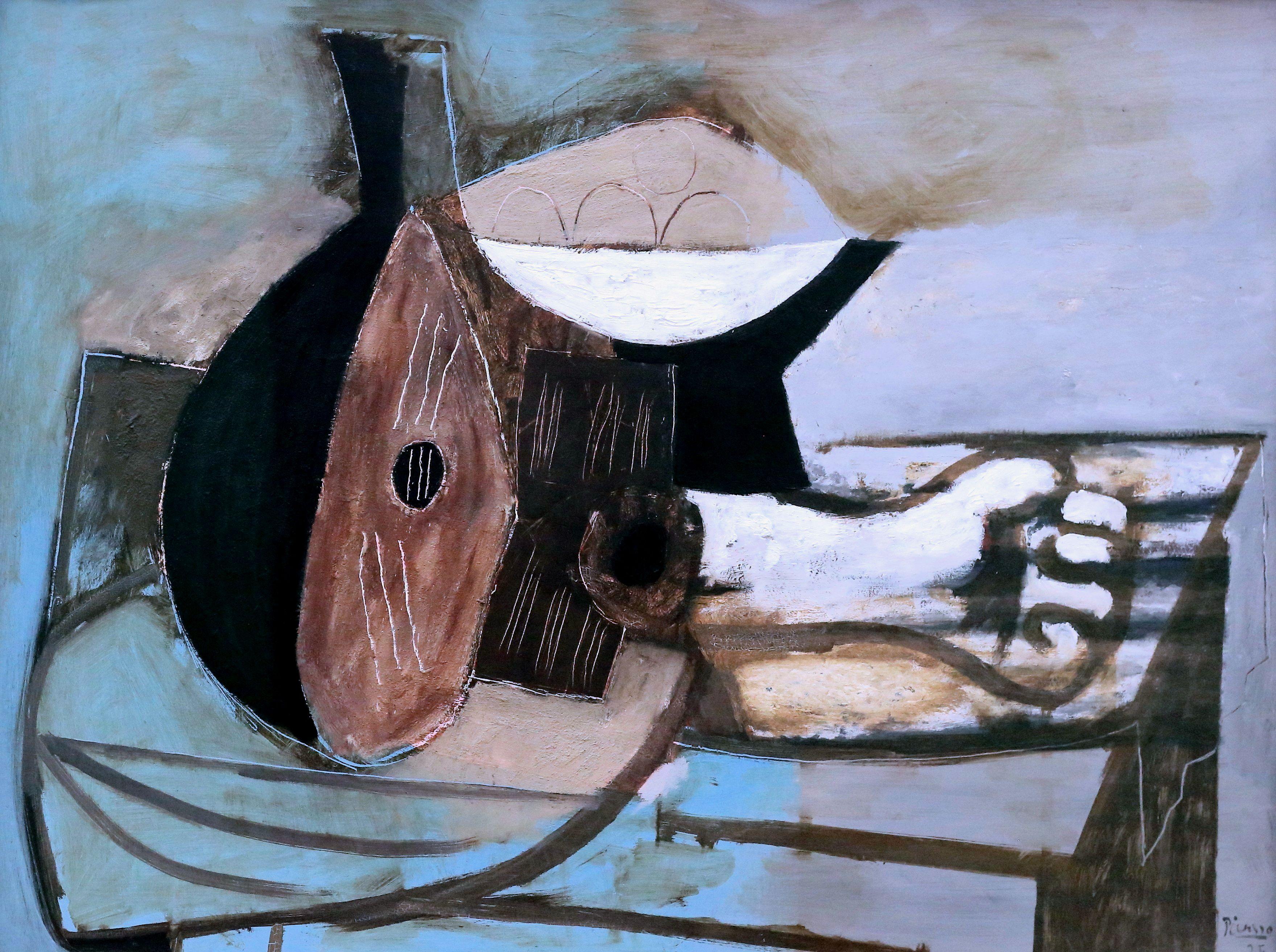 Pablo Picasso 1881 1973 Mandoline potier bras de marbre Mandolin