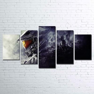 Halo Master Chief 5 Piece Canvas Paragon Apparel Halo Master Chief Canvas Master Chief