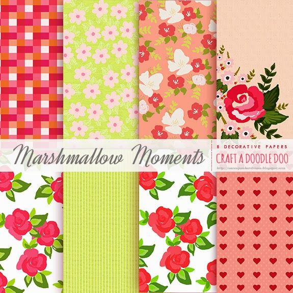 The Freebie Jubilee//Deco Papers-Marshmallow Moments Collection!