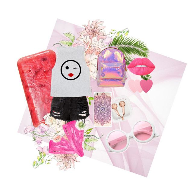 """""""5"""" by cindy-85 ❤ liked on Polyvore featuring Miss Selfridge, NIKE, claire's, ZeroUV, Lime Crime and Sephora Collection"""
