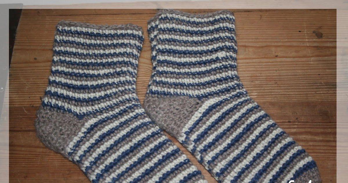 Mönster till de virkade sockorna | Virka sockor, Virka