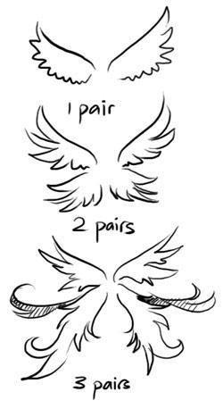 Chibi Angel Wings : chibi, angel, wings, Drawing, Tutorials, Wings, Drawing,, Anime, Drawings, Tutorials,, Tutorial