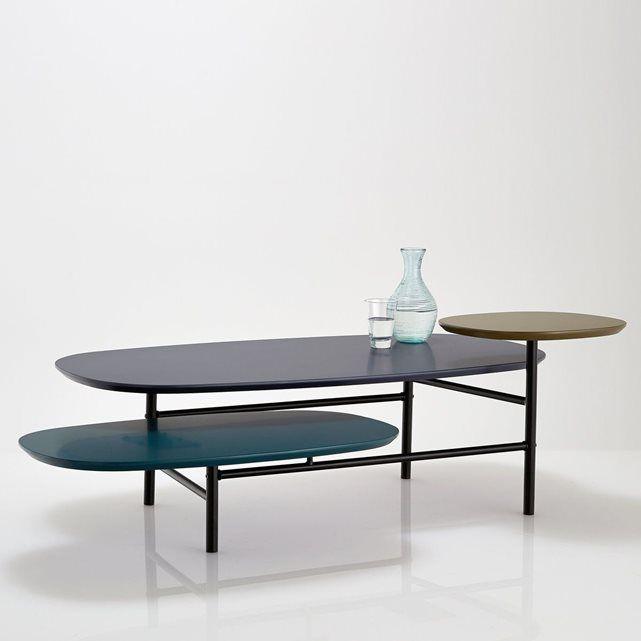 Table Basse 3 Plateaux Pietement Tube D Acier Cr Table Basse Table Basse Ampm Et Table Basse D Appoint