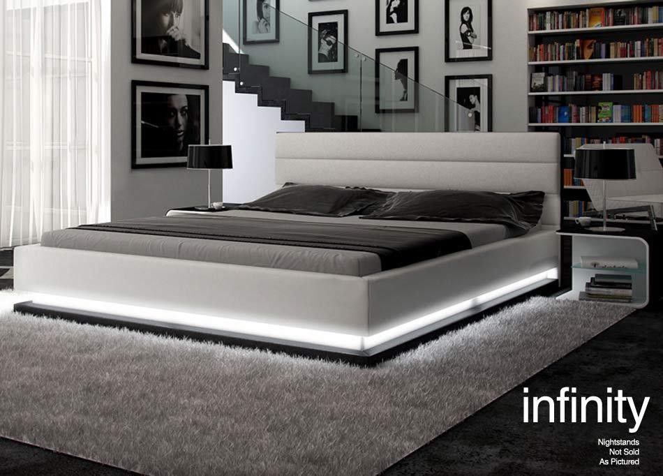 vig furniture infinity black contemporary platform queen