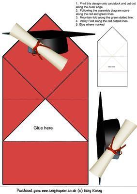 Graduation Cap And Scroll Pop Up Spring Card Graduation Card Templates Spring Cards Graduation Cards Handmade