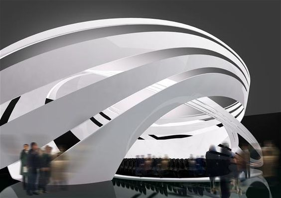 Futuristic Architecture Interior Organic Zaha Hadid Architects Concert Hall Design International Festival Music