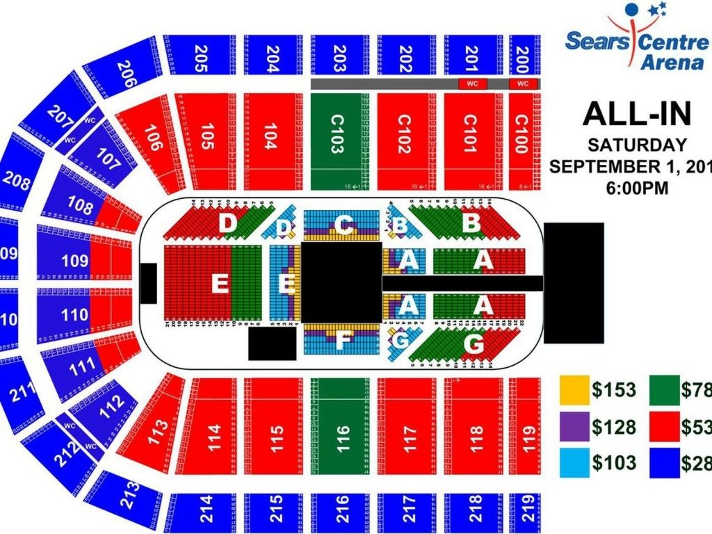 Sears Centre Arena Seating Chart