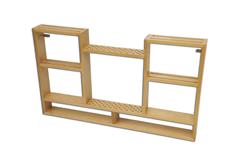 Mobili Verniciati ~ Mobile porta attrezzi ginnici in legno verniciato da fissare a