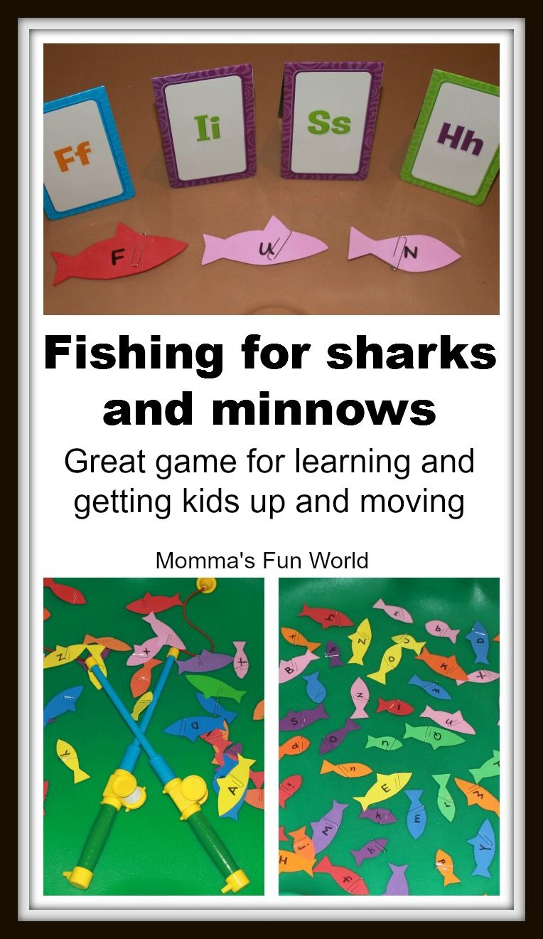 Sharks And Minnows Alphabet Fishing Game Great Game For Center
