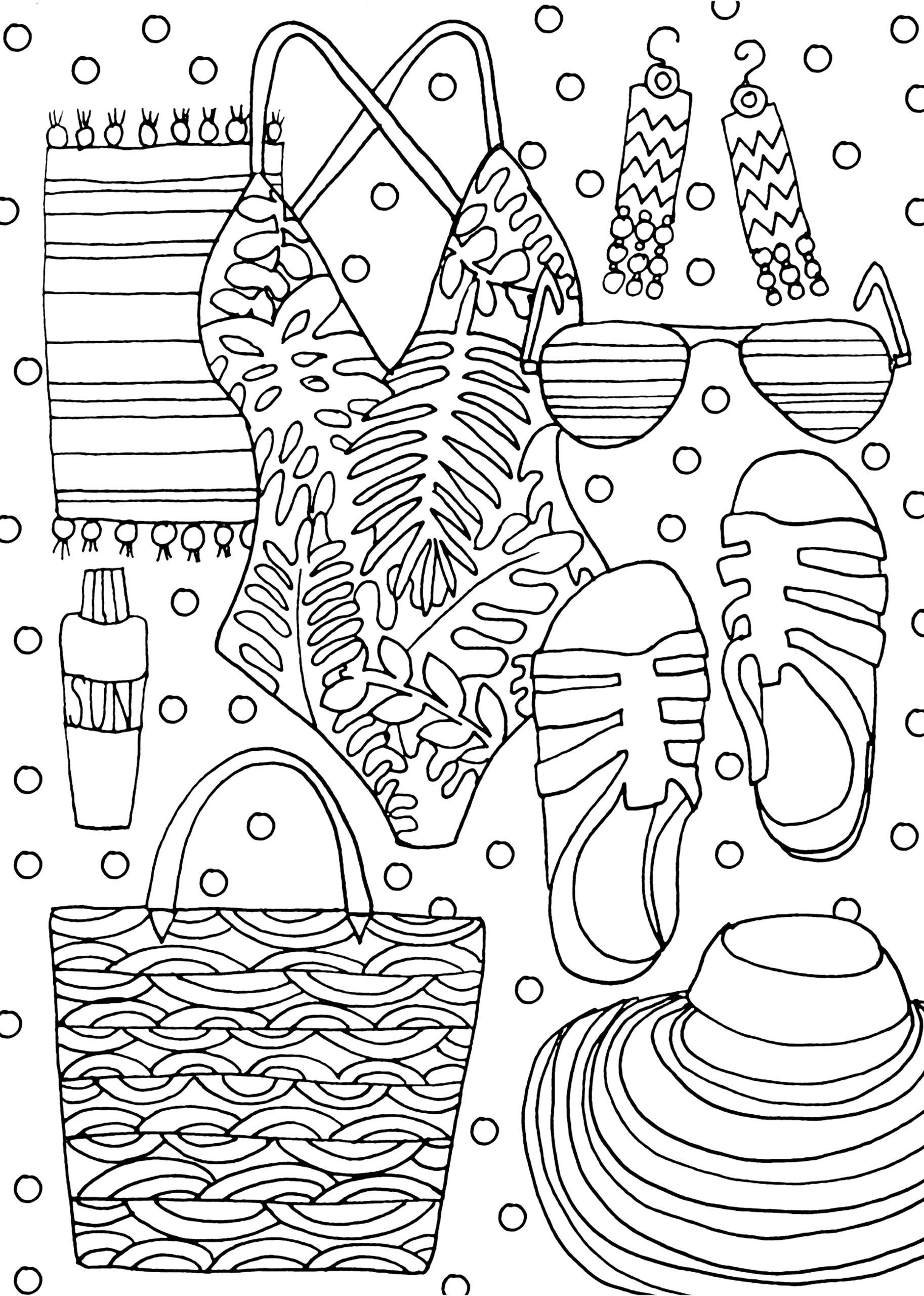 Tension Relief Tips Fashion Coloring Adult Coloring