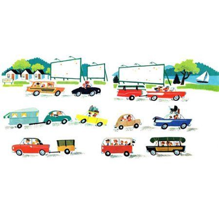 Marmont Hill Cars by Curtis Painting Print on Canvas, Size: 45 inch x 22.5 inch, Multicolor