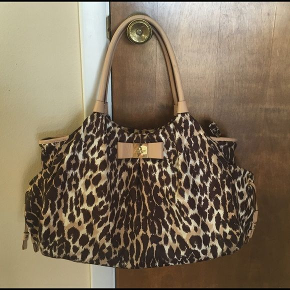 Kate Spade Stevie Leopard Print Diaper Bag This Stylish Is In Great Condition