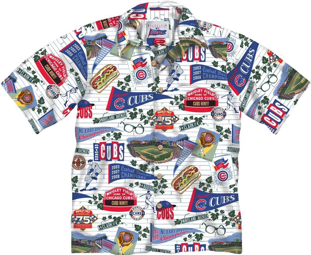 f2fa1f5d8 Chicago Cubs Hawaiian Shirt by Reyn Spooner   SportsWorldChicago.com # ChicagoCubs @cubsbaseball @iowacubs
