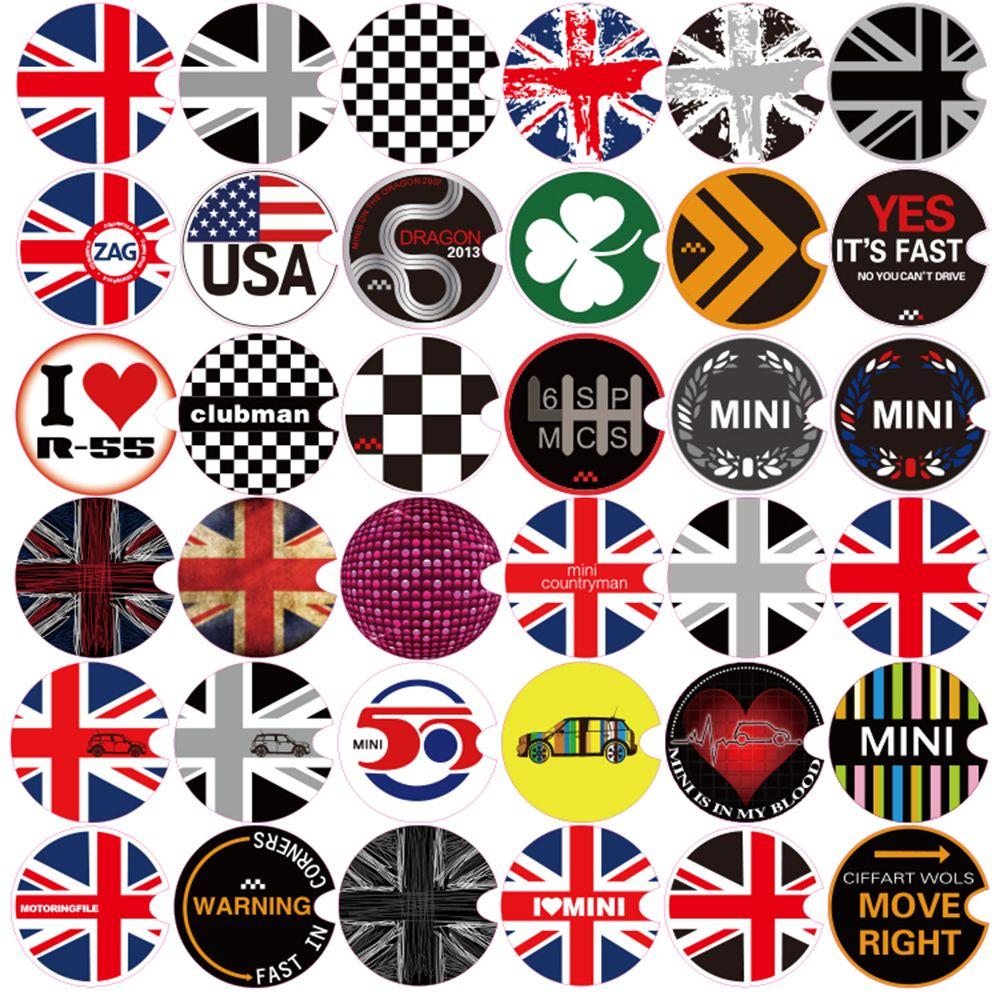 Aliuto Car Decoration Fuel Tank Cap Sticker Decals For Mini Cooper Countryman R50 R52 R53 R55 R56 R57 R58 R59 R60 R61 R62 Mini Coppers Mini Cooper Mini
