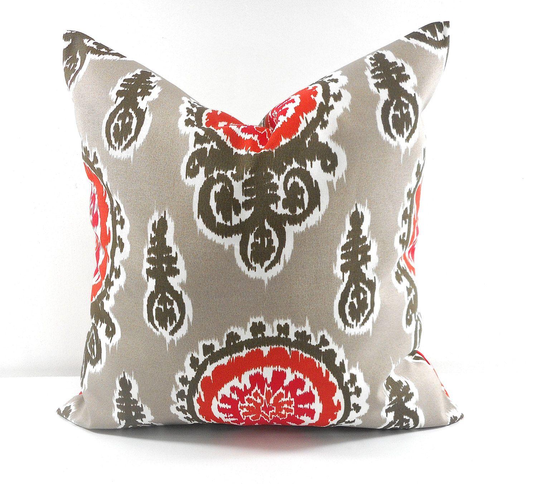 Grey pillow cover indoor outdoor stain dirt resistant