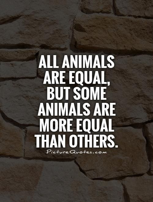 Animal Farm Quotes Inspiration All Animals Are Equal But Some Animals Are More Equal Than Others