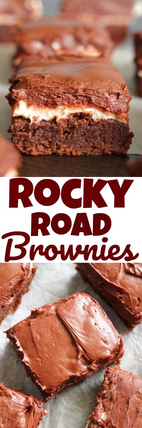Rocky Road Brownies - These chocolate marshmallow brownies are my favorite.