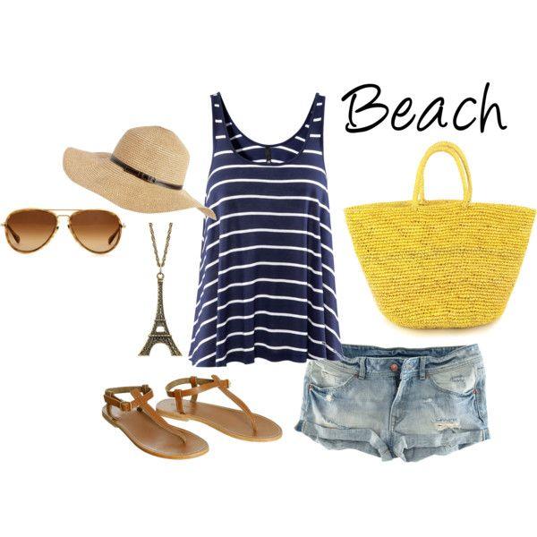 Beach Day, created by sydnie-ashton.polyvore.com