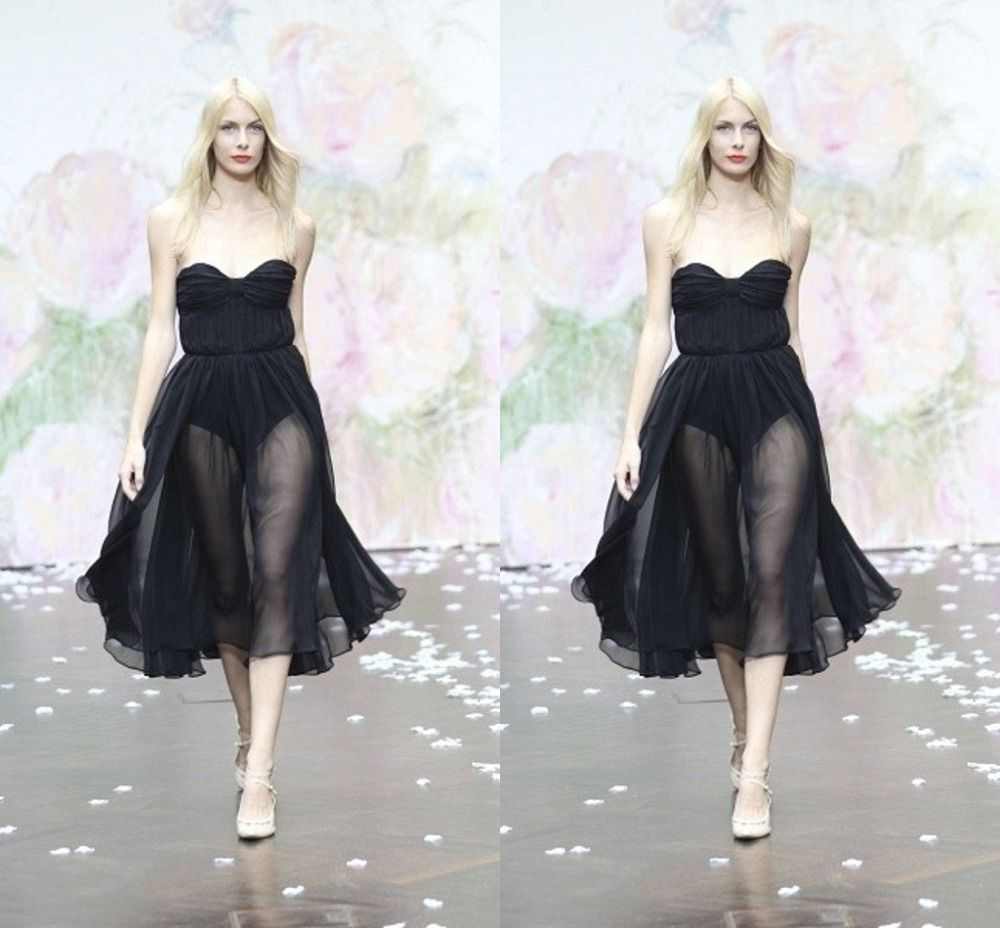sexy black illusion cocktail dresses sweetheart backless ruched