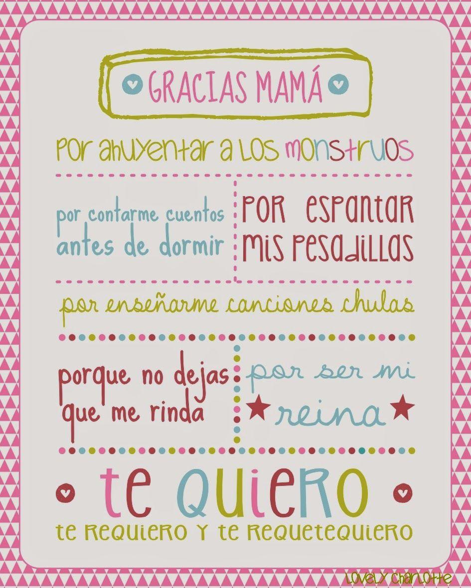 Gracias Madre Poemas Porque Madre No Hay Más Que Una Mamás Molonas  Pinterest