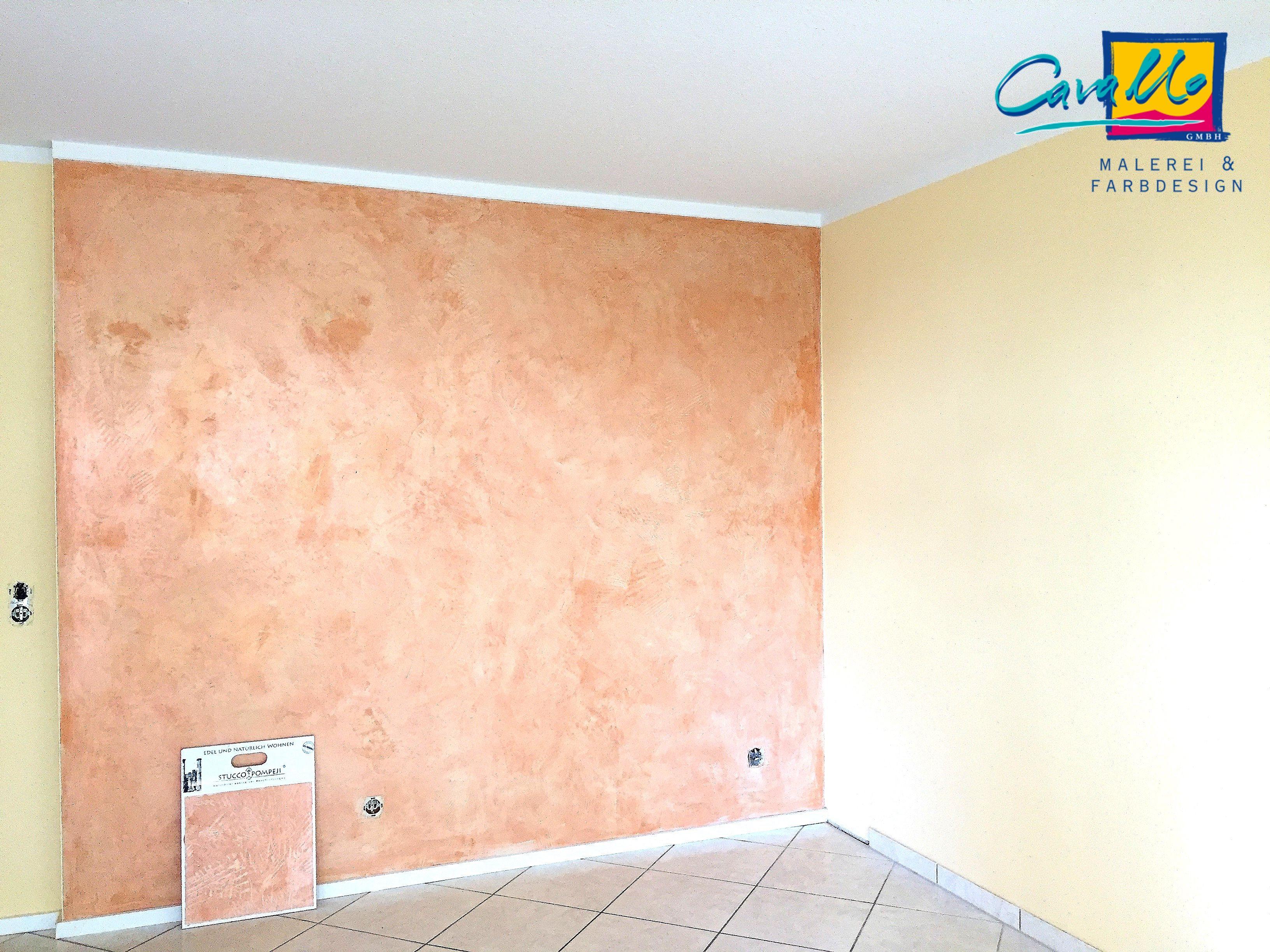Aprikose farbener edelputz mit der lasur travertin als highlight in einem wohnzimmer die - Wohnzimmer schwetzingen ...
