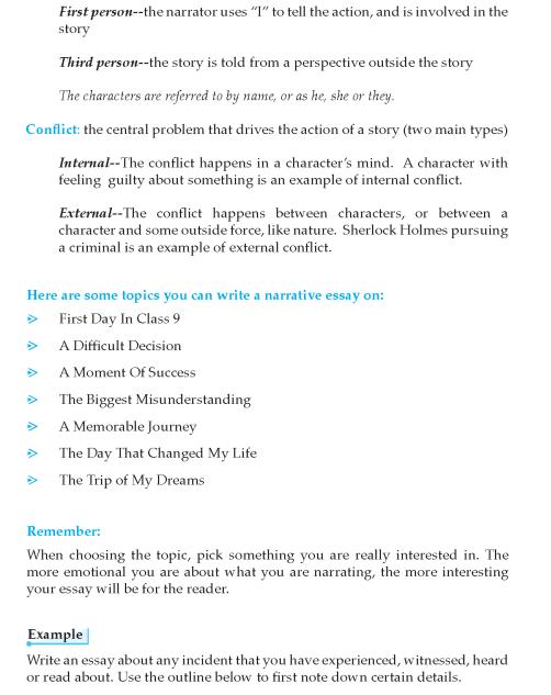9th Grade Narrative Essay Tutorial English Writing Skill Skills Defining Moment