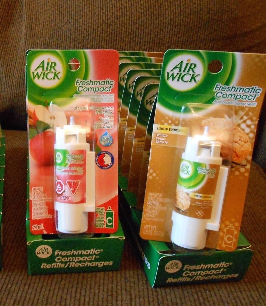 16 Air Wick Freshmatic Compact Spray 2 Different Fragranc Refills