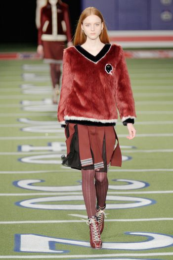 NYFW Fall 2015Shoes: Varsity-theme footwear took to the field at Tommy Hilfiger.
