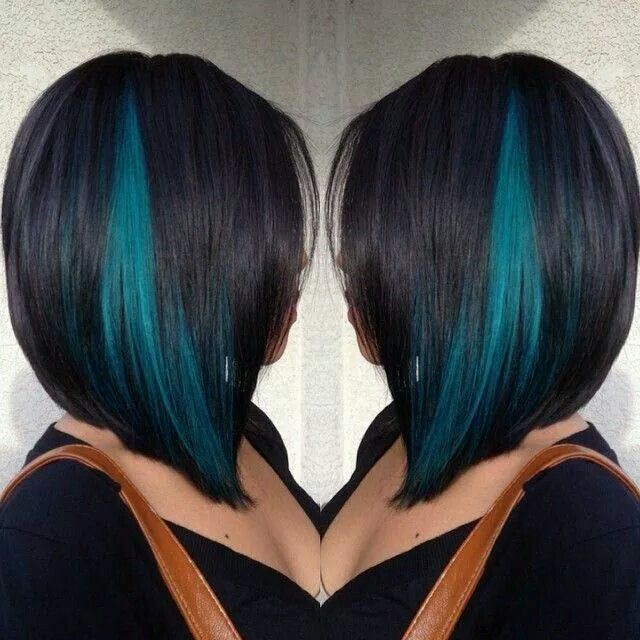 Love Turquoise Streaks Hair Fab Pinterest