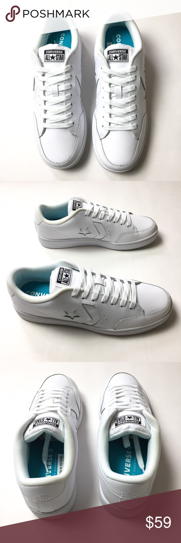 f4b0e9d926c9e1 Converse Star Court Ox Sneakers (Unisex) White leather sneakers. Unisex.  Round toe